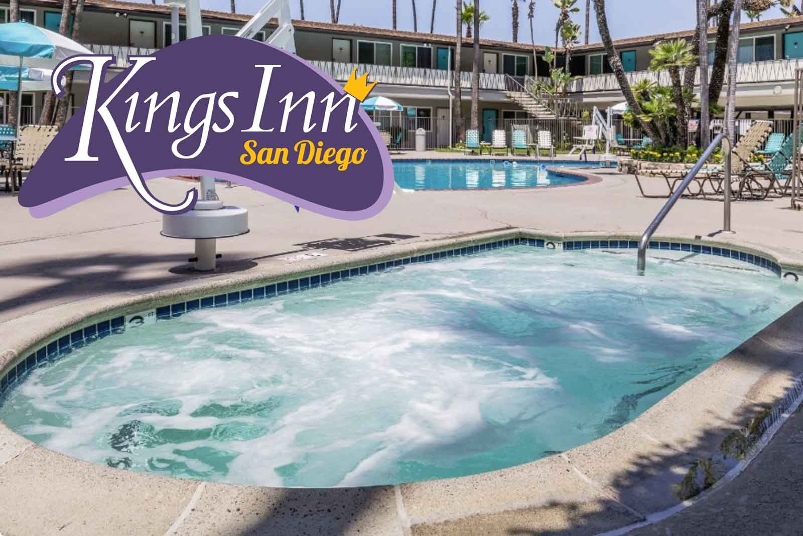 We are a fun retro san diego hotel with a pool the kings inn is perfect for you and your family and friends come take a refreshing dip in our outdoor